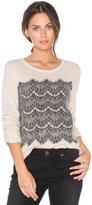 Joie Rosaleen Lace Sweater