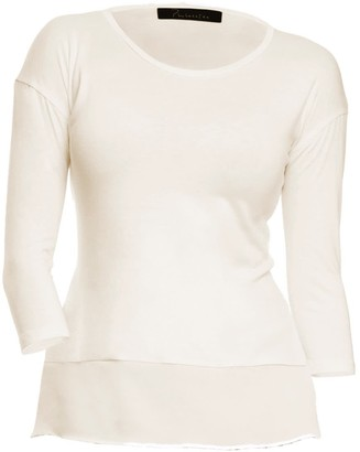 Philosofée By Glaucia Stanganelli Ivory Back Pleat Modal Tee