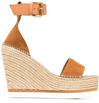 See by Chloe Wedge Ankle-Strap Sandals