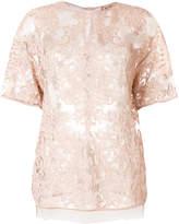 No.21 shortsleeved lace T-shirt