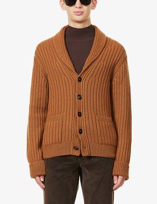 Tom Ford Shawl-collar patch-pocket cashmere cardigan