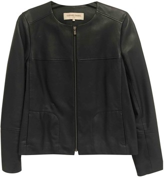 Gerard Darel Navy Leather Jacket for Women