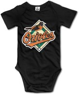 Enlove Baltimore Orioles BABY Geek Short Sleeves Variety Baby Onesies Bodysuit For Toddler Size 6 M