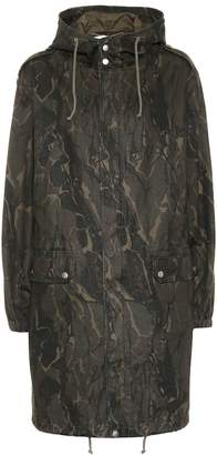 Saint Laurent Camouflage cotton-blend parka