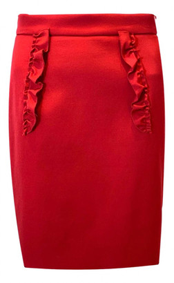 Miu Miu Red Synthetic Skirts