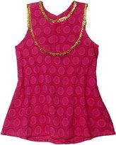Masala Baby Mira Top (Toddler/Kid) - Dots Jacq Pink-10