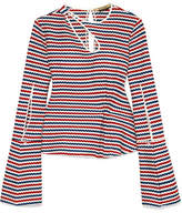 Hellessy Ida Cutout Crocheted Cotton-jersey Top
