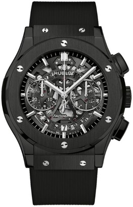 Hublot Ceramic Classic Fusion Aerofusion Black Magic Chronograph Watch 45mm