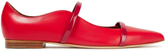 Malone Souliers Maureen Two-tone Leather Point-toe Flats