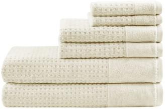 Madison Home USA Spa Waffle Cotton 6-piece Jacquard Bath Towel Set