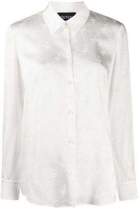 Boutique Moschino Jacquard-Goose Blouse