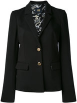 Class Roberto Cavalli notched lapel fitted jacket - women - Silk/Cotton/Polyamide/Viscose - 40