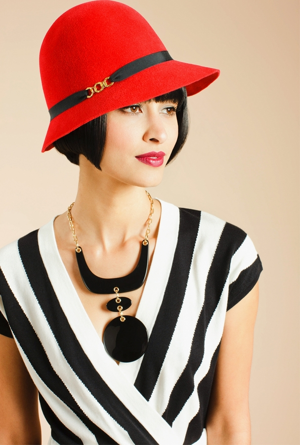 Trina Turk Scarlet Cloche Hat
