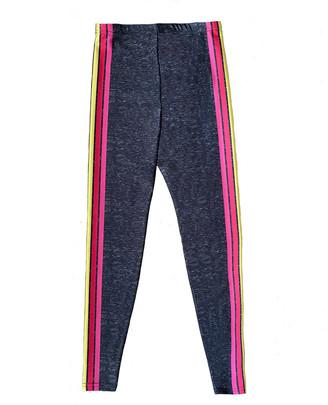 Terez Girl's Rainbow Side Striped Leggings, Size 7-16