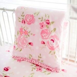 My Baby Sam Rosebud Lane 3pc Crib Bedding Set Bedding