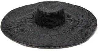 Greenpacha Mallorca Straw Wide-brim Hat - Black