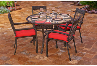 Northcape 5Pc Beacon Resin Wicker Outdoor Chair & Dining Table