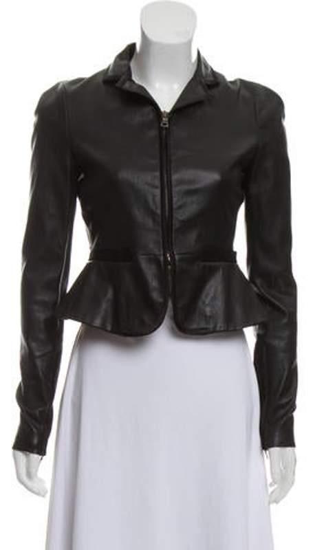659199d9 Leather Zip Jacket Black Leather Zip Jacket