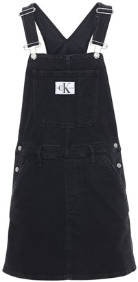 Calvin Klein Jeans Cotton Denim Mini Overalls
