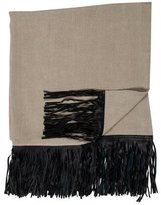 Bergdorf Goodman De La Cuona Fringed Throw Blanket