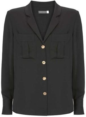 Mint Velvet Black Revere Collar Blouse