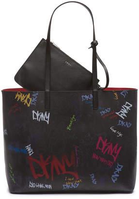 DKNY Brayden Graffiti Logo Tote
