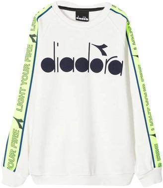 Diadora White Sweatshirt Kids