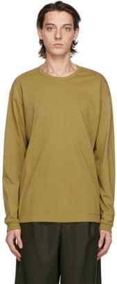 Issey Miyake Taupe Cotton Long Sleeve T-Shirt