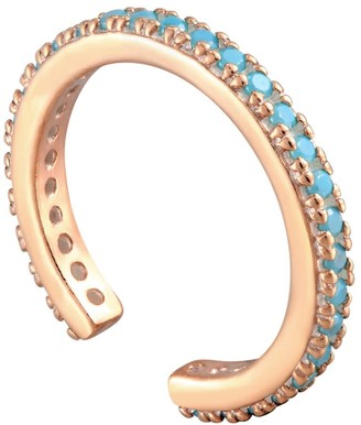 Seol + Gold 18Ct Rose Gold Vermeil Turquoise Cz Cuff Earring