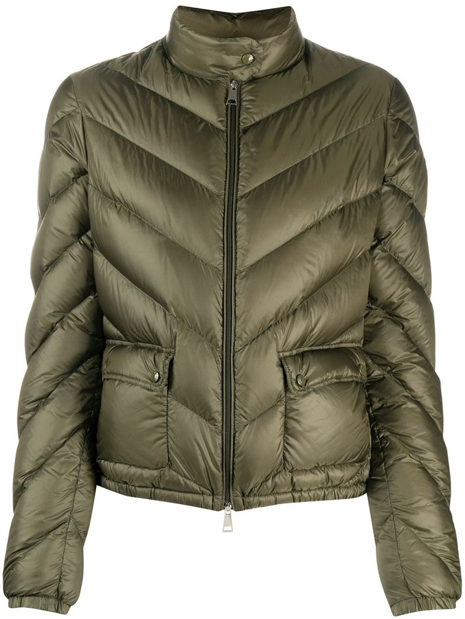 Moncler Chevron Quilted Down Jacket