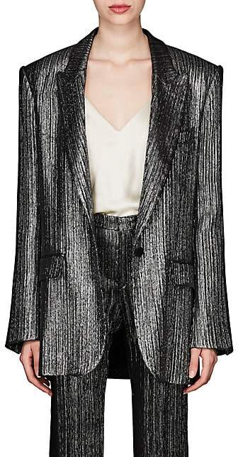 Isabel Marant Women's Datja Metallic Striped Blazer - Silver