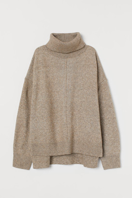 H&M Knit Turtleneck Sweater - Beige