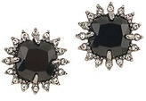 Carolee Gotham Hematite-Tone Button Earrings