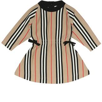BURBERRY KIDS Baby Chiara Icon Stripe cotton dress