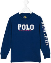 Ralph Lauren branded long-sleeved sweatshirt - kids - Cotton - 2 yrs