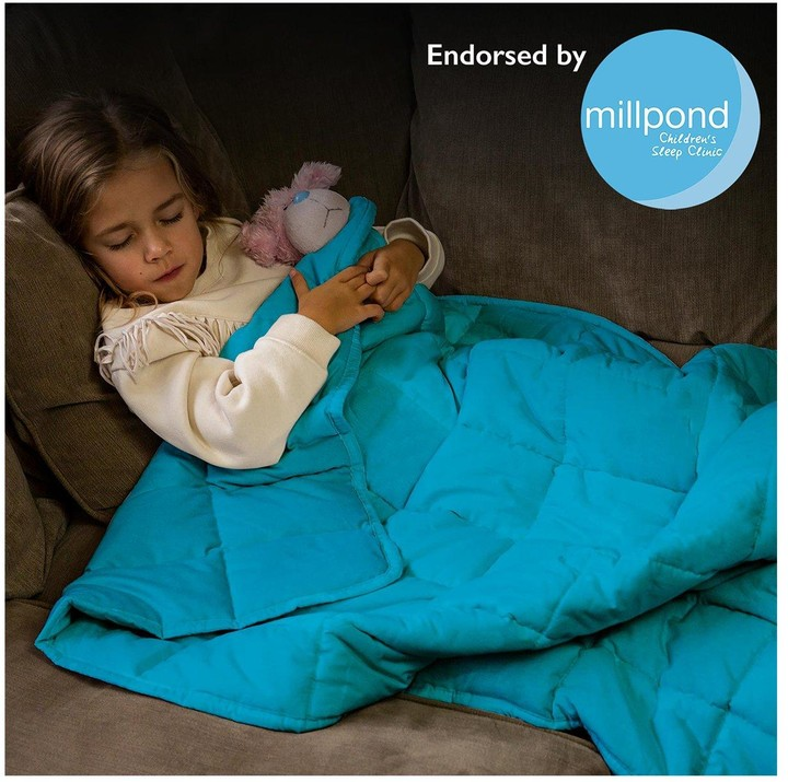 Thumbnail for your product : Rest Easy Sleep Better Weighted Blanket in Teal 3 kg 90 x 120 cm