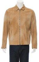 John Varvatos Suede Zip-Up Jacket