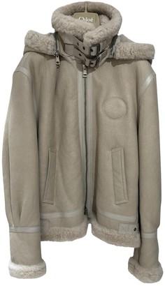 Chloé Beige Shearling Jacket for Women