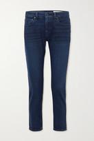 Thumbnail for your product : Rag & Bone Dre Cropped Low-rise Slim-leg Jeans - Dark denim