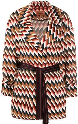 Missoni Zigzag-Print Tie Waist Cardi-Coat