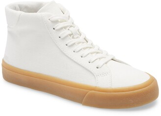 Madewell Sidewalk High Top Sneakers in Recycled Canvas