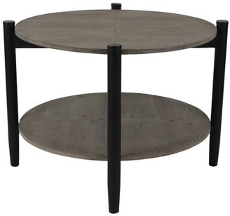 George Oliver Markowitz Coffee Table Table Base Color: Black, Table Top Color: Distressed Wood