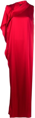 Gianluca Capannolo Draped Side Slit Dress