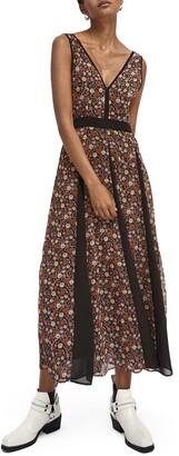 Scotch & Soda Floral Print Midi Dress