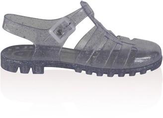 Public Desire Uk Aileen Clear Glitter Jelly Sandals