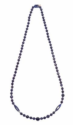 Lola Rose Suzanne Blue Sandstone Navy Blue Tigers Eye Necklace of 82 cm