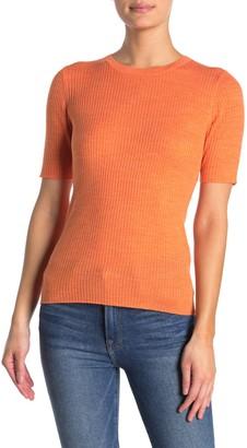 Frame Short Sleeve Crew Neck Sweater