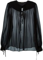 Roberto Cavalli sheer blouse - women - Silk - 42