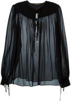 Roberto Cavalli sheer blouse