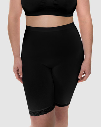 B Free Intimate Apparel - Women's Black High Waisted Briefs - Curvy Anti-Chafing Cotton Shorts - Size One Size, M at The Iconic